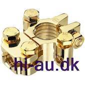 MONACOR Positive terminal battery clamp gold plated