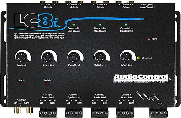 AUDIOCONTROL 8 KANAL HIGH LOW MED GTO (ARC) OG AUX-IN